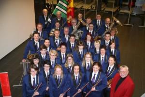 Der Musikverein Balgach anlässlich der Abendunterhaltung 2016